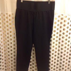 Tribal Ankle Crop Dress Pants Black 16 Plus Size